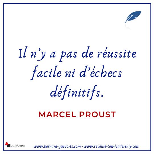 Citation de Marcel Proust sur l'échec