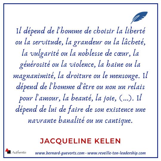 Citation sur la liberté de J Kelen