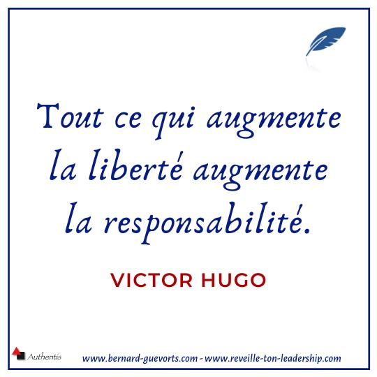Citation sur la liberté de Victor Hugo