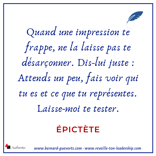 Citation de Epictète sur la perception