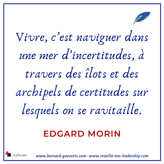 Citation d'Edgard Morin sur la vie