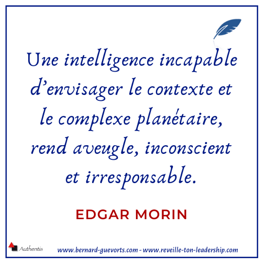 Citation d'Edgar Morin sur l'intelligence