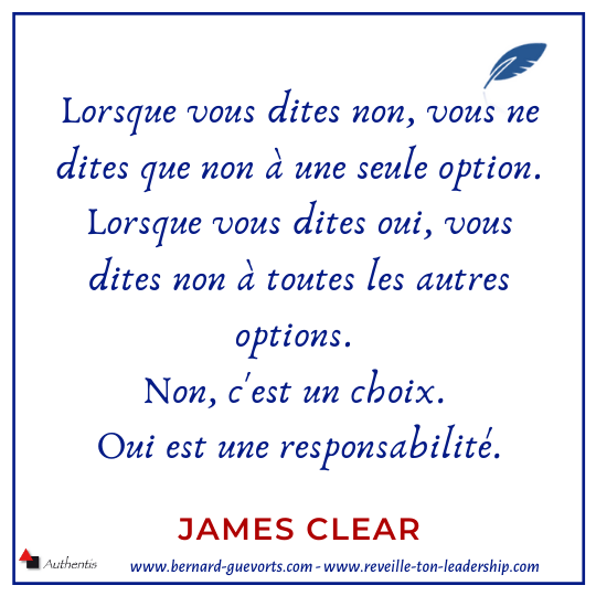 Citation sur le OUI de James Clear