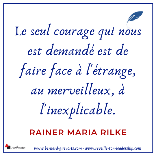 Citation de Rilke sur le courage