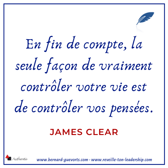 Citation de James Clear sur la pensée