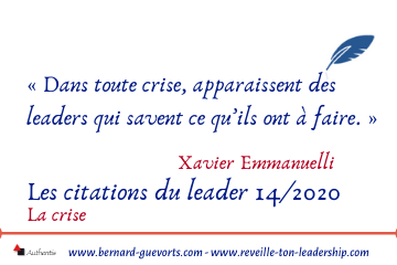 Couverture article sur citations du leader sur la crise