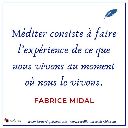 Citation sur la méditation de Fabrice Midal