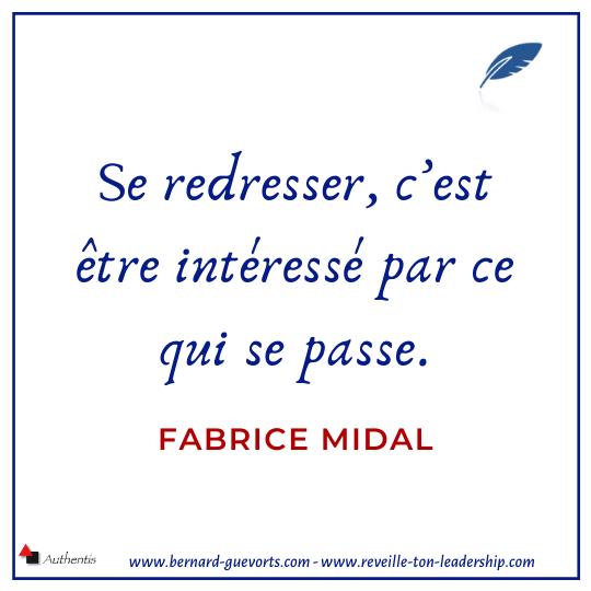 Citation de Fabrice Midal sur la posture redressée