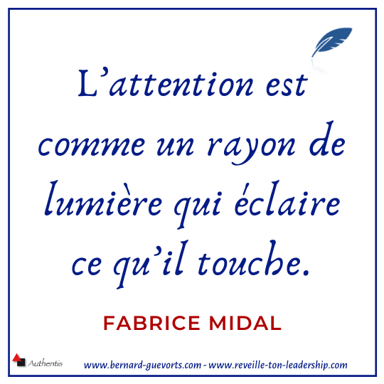 Citation de Midal sur l'attention