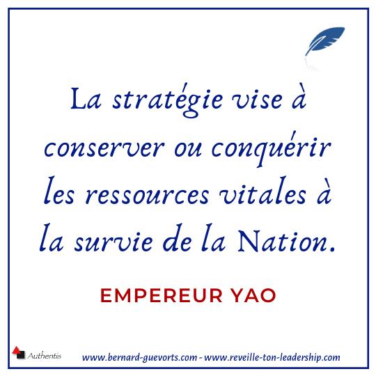Citation sur la stratégie empereur Yao