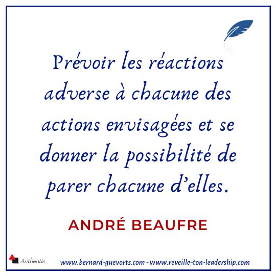 citation sur l'anticipation de André Beaufre