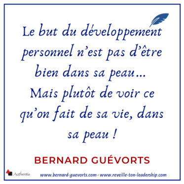 Citation sur le but du développement personnel
