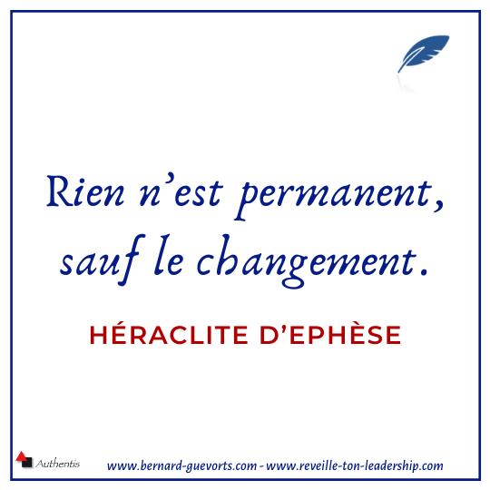 Citation d'Héraclite sur le changement