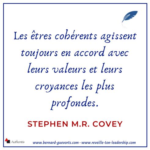 Citation sur les valeurs Stephen MRCovey