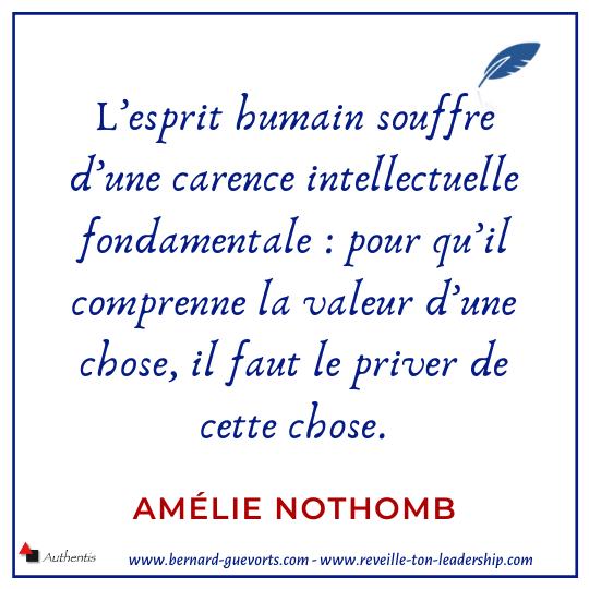 Citation d'Amélie Nothomb sur l'esprit humain