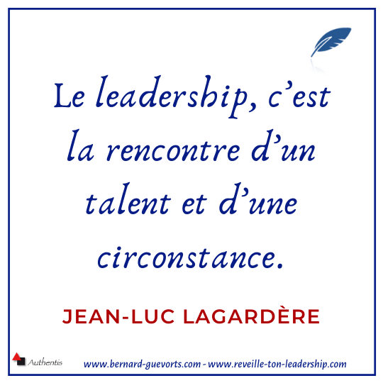 Citation sur le leadership de JL Lagardère