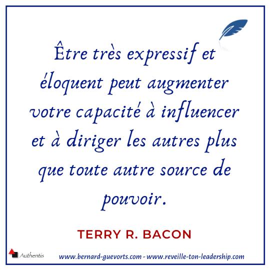 Citation de Terry bacon sur l'éloquence