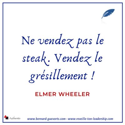Ne vendez pas le steak citation de Wheeler