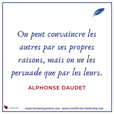 Citation de Daudet sur la persuasion