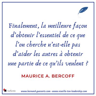 Citation sur la négociation Bercoff
