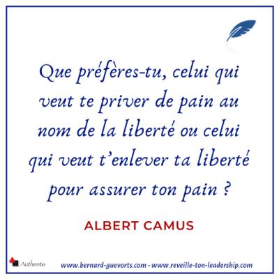Citation sur la liberté de Albert Camus