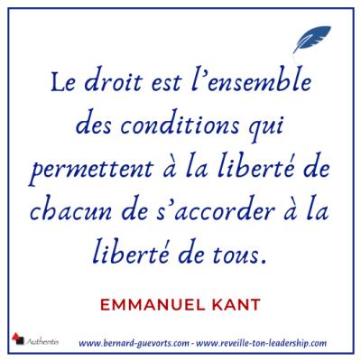 Citation sur la liberté et le droit de Emmanuel Kant