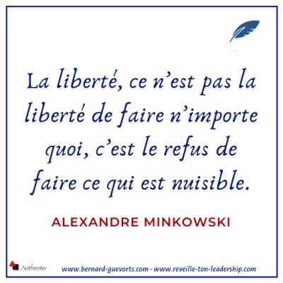 Citation sur la liberté et ses limites de Minkowski
