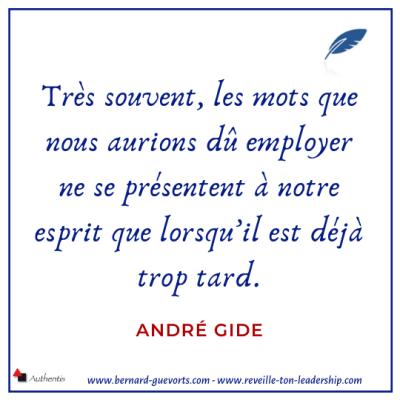 Citation d'André Gide sur les mots et les émotions