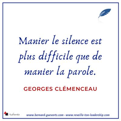 Citation de Clémenceau sur le silence