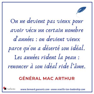 Citation du général Max Arthur sur la jeunesse