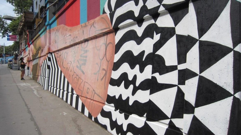 Detalle del mural de Medianeras Murales.