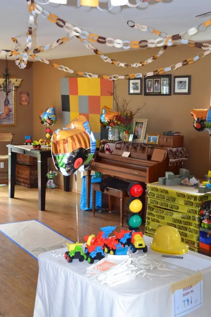 Real Party Construction Birthday Party Activities