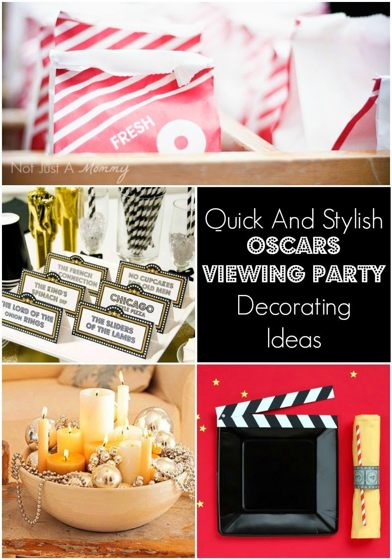 Quick Decorating Ideas quick and stylish oscars viewing party decorating ideas - revel