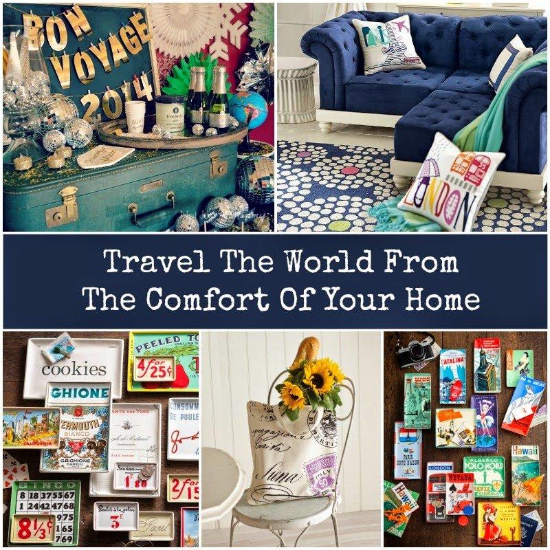Travel Inspired Home Decor - Revel And Glitter