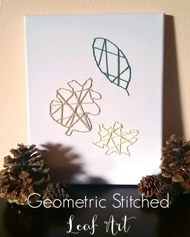 Tuesday Tutorial - Geometric Stitched Leaf Art - Revel and