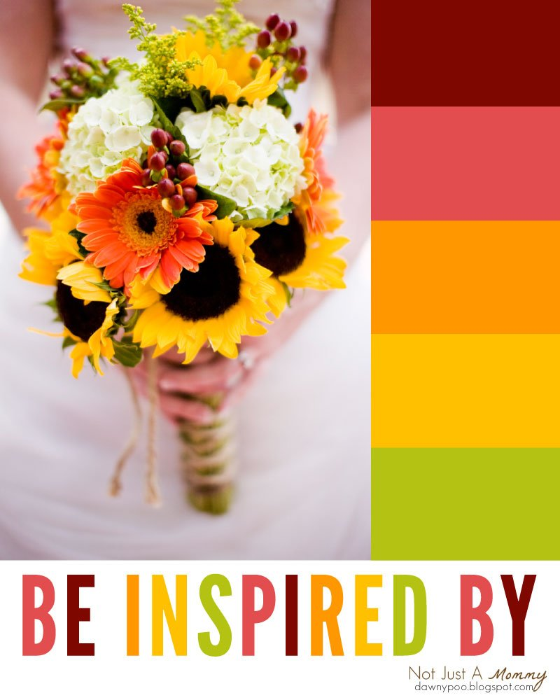 Be Inspired By Fall Flower Bouquet Revel And Glitter