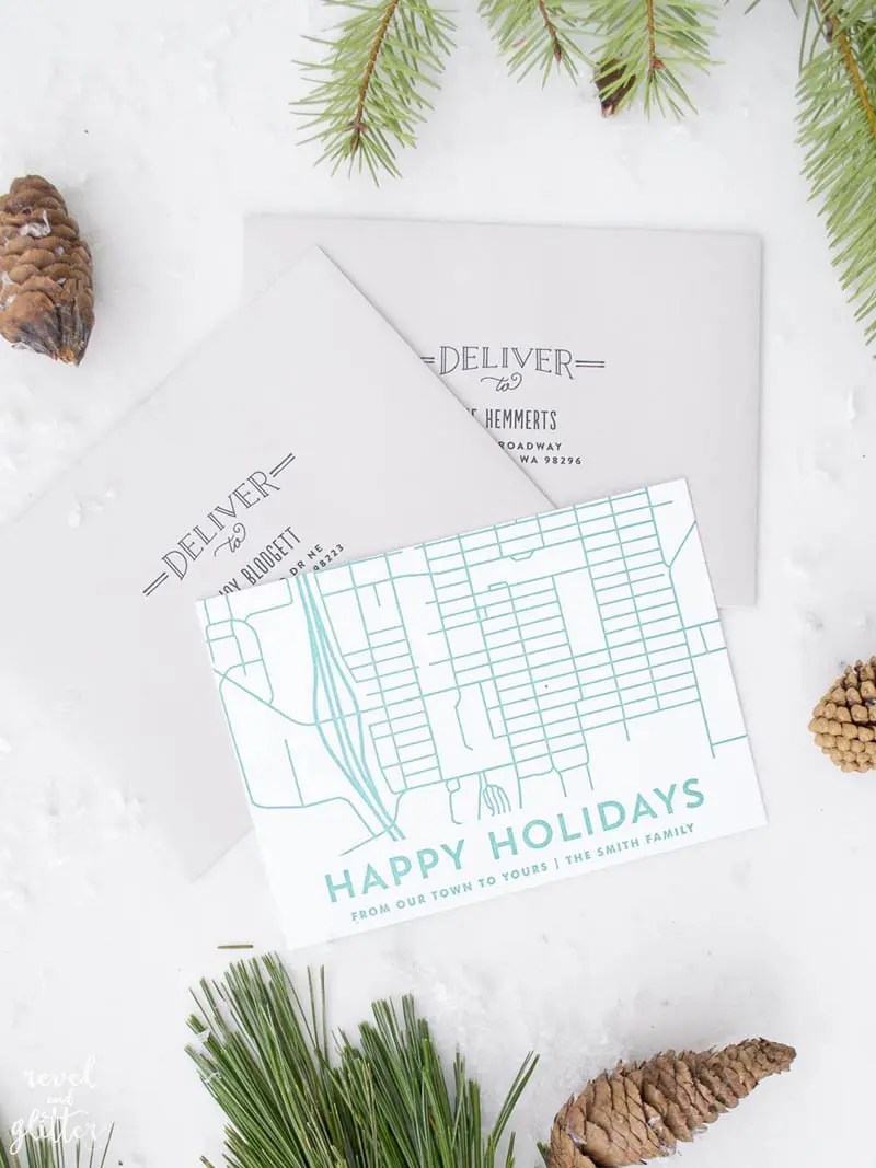 Completely Custom Christmas Cards With Minted - Revel and Glitter