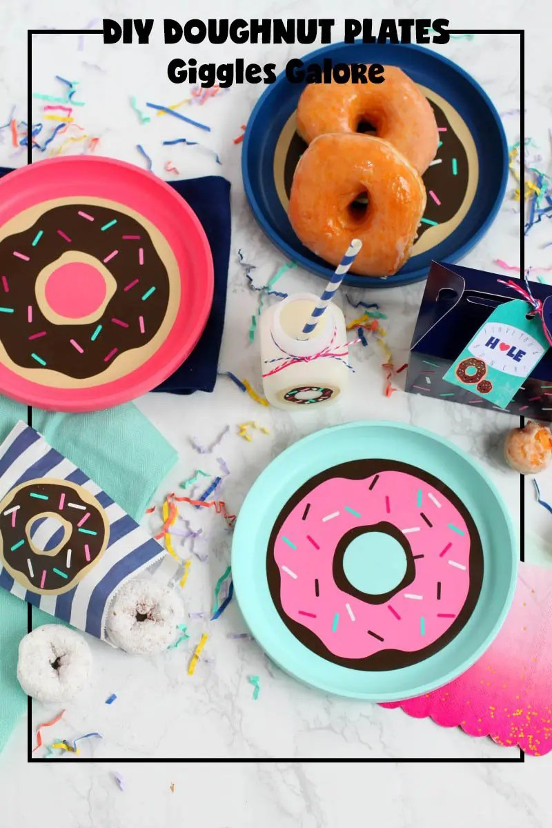 National Doughnut Day Party Blog Hop; DIY doughnut plates