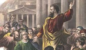 Peter preaching at the temple