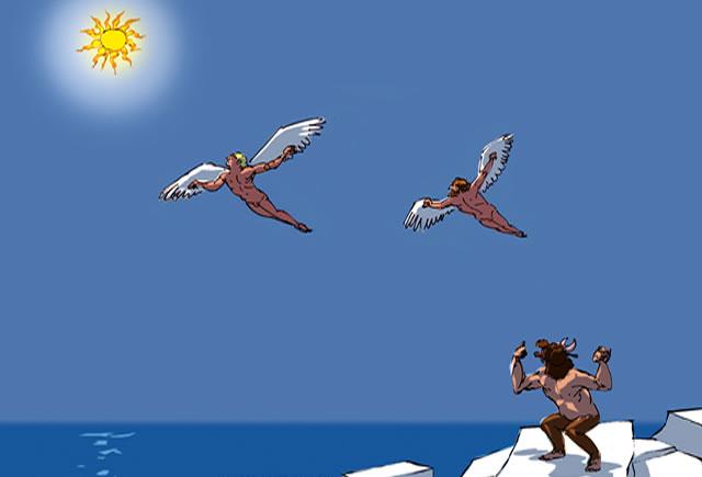 Dutchman Flies with Bird Wings