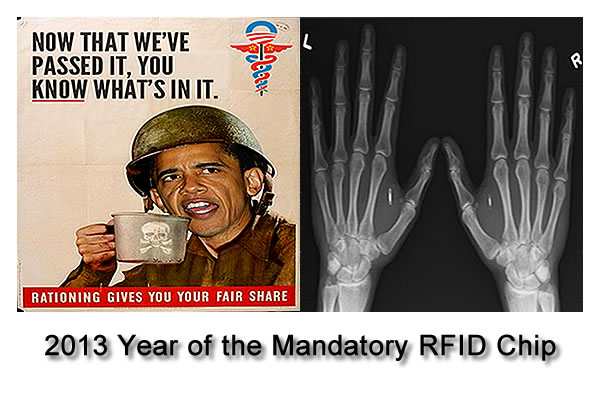 Obamacare:RFID Chips for EVERYONE!