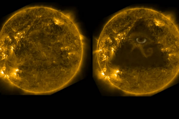 Eye of Horus on the Sun!