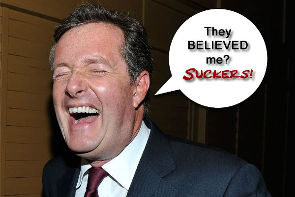 Piers Morgan:Shoots Self in Foot!