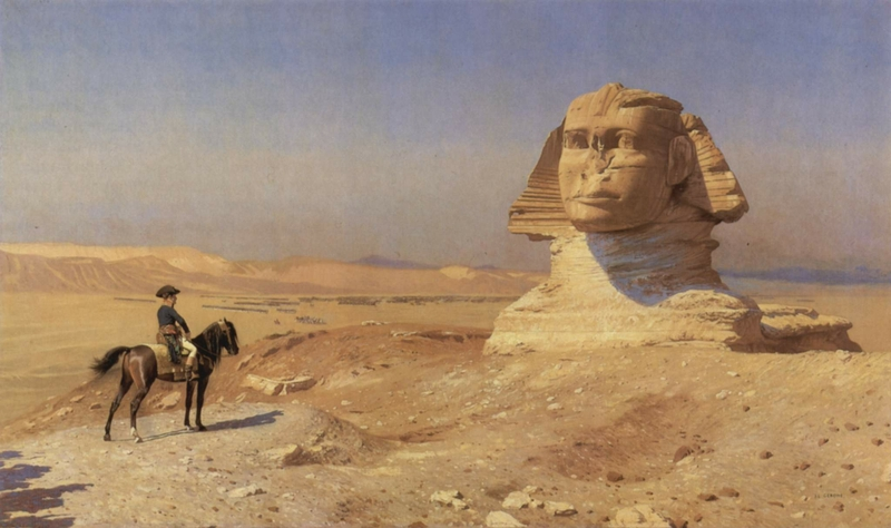 What did the Sphinx Look Like Before Napoleon Shot the Nose and Lips Off?