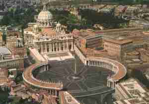 Aerial view of the Vatican