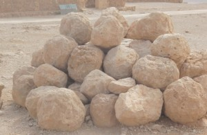 Stones used by Roman catapults