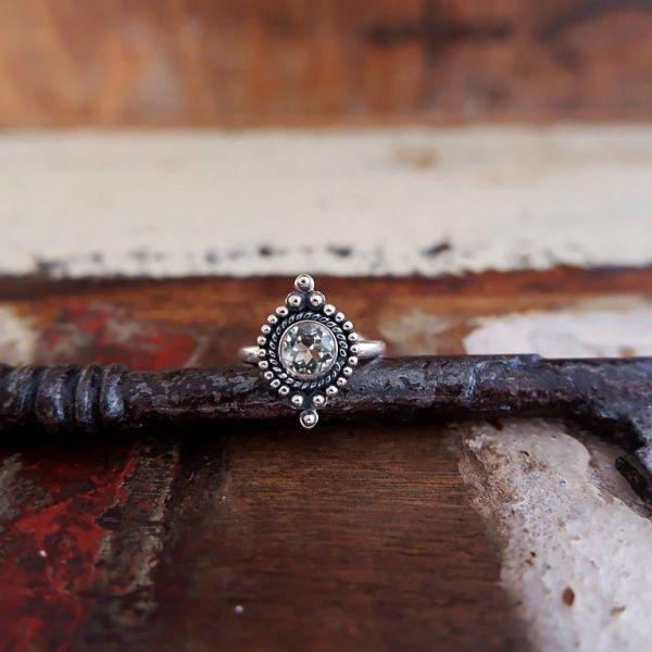 Zilveren ring met Citrien edelsteen