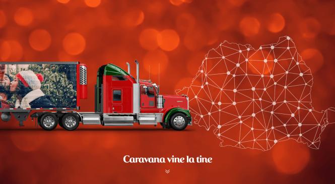 Caravana Coca-Cola il aduce pe Mos Craciun la Targul de Craciun Bucuresti, pe 13 decembrie