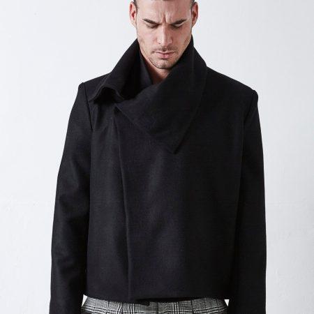 blouson-structuré-laine-noire