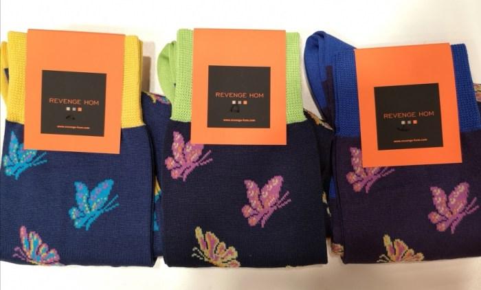 chaussettes papillons